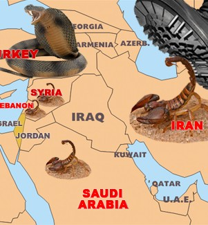 Illustration of a vision concerning the Middle East