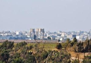Gaza City as seen from lookout in Israel