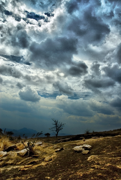 Storm clouds in the desert -- LeoCub on RGBStock.com