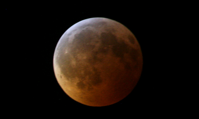 A lunar eclipse as seen from El Paso, Texas, on Dec. 21, 2010.