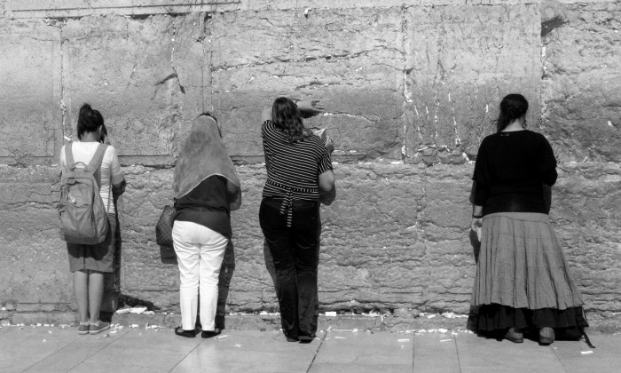 Kotel, Western Wall, praying in Jerusalem, , Israel,  on April 24, 2012.  Photo by Carino Casas/ 2012 © Carino Casas All rights reserved  Taken 15:34:11 IDT on April 24, 2012, in Jerusalem, . Shot with Canon PowerShot G7 at 1/1600 at f/7 with 10.7mm lens at 192 ISO. Original file name: IMG_2729.JPG